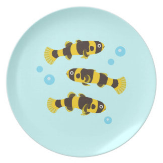 Bumblebee Goby Fish Party Plate