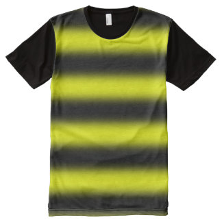 Bumblebee Inspired Yellow & Black Stripes All-Over Print T-Shirt