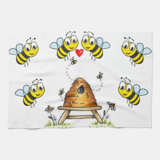 bumblebee kitchen hand towel