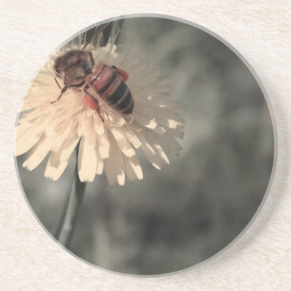 Bumblebee on flower coaster