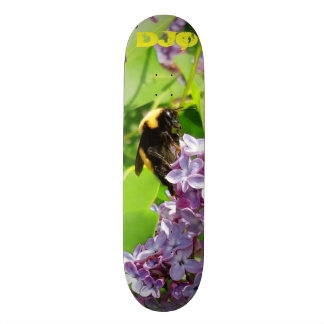 Bumblebee on Lilac Bush with your  initials 19.7 Cm Skateboard Deck