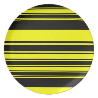 Bumblebee Stripes Dinner Plates