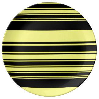 Bumblebee Stripes Porcelain Plate