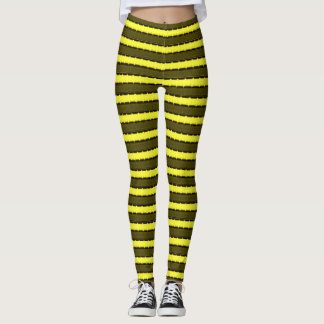 Bumblebee Tiger Stripes Theory Leggings