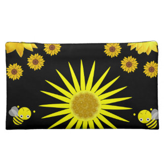bumblee flower girls baggette cosmetic bag