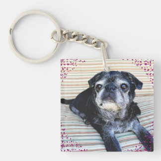 """Bumblesnot keychain: """"Rescue"""" is the best breed! Key Ring"""