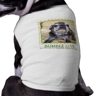 Bumblesnot Pet Shirt: Bumble Love Sleeveless Dog Shirt