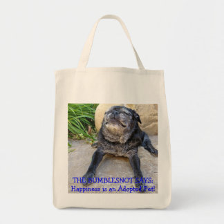 Bumblesnot totebag: Happiness is an Adopted Pet! Tote Bag