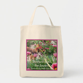 Bumblesnot totebag: The Wee One/Flowers Tote Bag