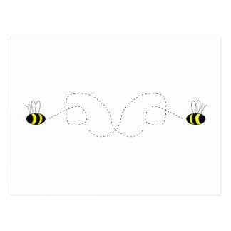 Bumbling Bumble Bees Postcard