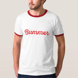 Bummer red and white T-Shirt