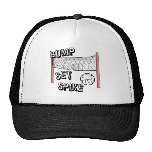 Bump, Set, Spike Mesh Hats