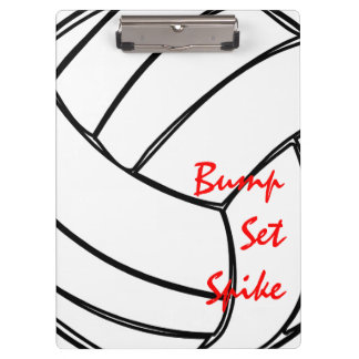 Bump Set Spike Volleyball Cell Pattern Clipboard