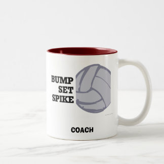 Bump Set Spike - Volleyball Two-Tone Coffee Mug
