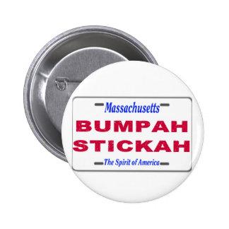Bumpah Stickah Pinback Button