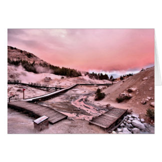 Bumpass Hell Sunset Card