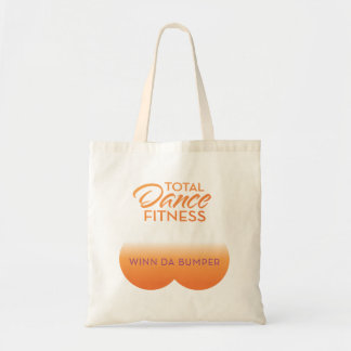 bumper bag; orange logo budget tote bag
