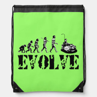Bumper Cars Sports Green Drawstring Bags