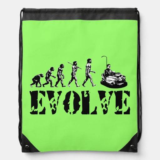 Bumper Cars Sports Green Cinch Bag