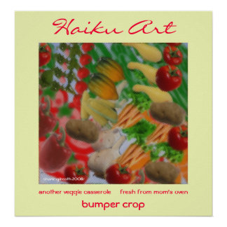 Bumper Crop Haiku Art Print