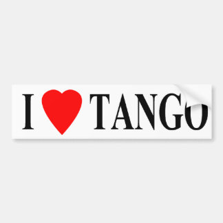 bumper i heart tango bumper sticker
