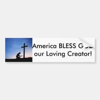 Bumper Sticker, America bless God our Creator Bumper Sticker