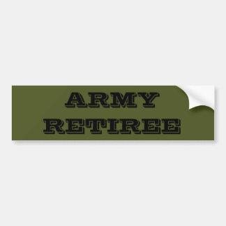 Bumper Sticker Army Retiree