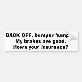 Bumper Sticker - Bumper Humper w/black lettering