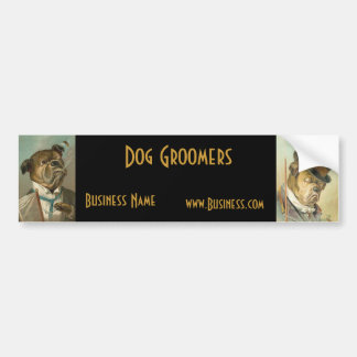 Bumper Sticker Business Vintage Dog Groomers