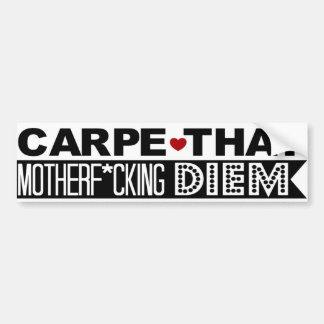 BUMPER STICKER: Carpe That Motherf*cking Diem! Bumper Sticker