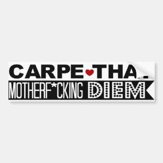 BUMPER STICKER: Carpe That Motherf*cking Diem! Bumper Sticker