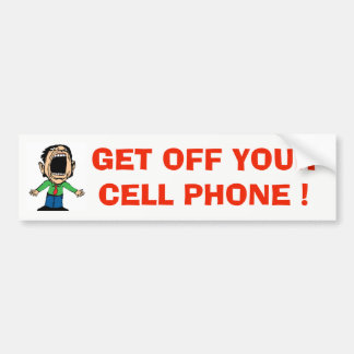 BUMPER STICKER CELL PHONE DRIVERS