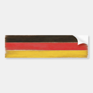 Bumper Sticker Cool Distressed German Flag