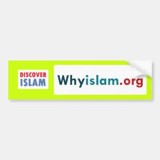 Bumper Sticker Discover Islam (2) Car Bumper Sticker