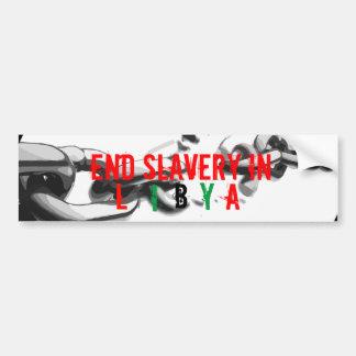 Bumper Sticker - End Slavery in Libya