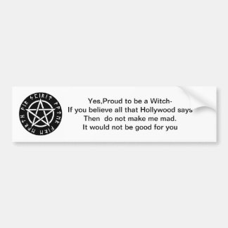 Bumper sticker for Witches