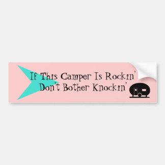 Bumper Sticker Fun Vintage Camper TT Humor