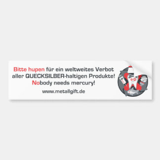 Bumper sticker (German, white)