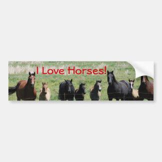 Bumper Sticker - I Love Horses!