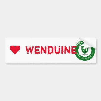 bumper sticker I ♥ Wenduine
