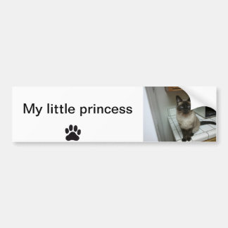Bumper sticker my little princess