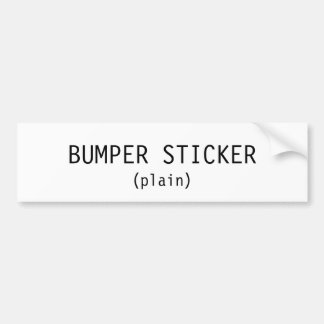 BUMPER STICKER (plain)