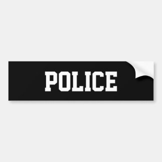 Bumper Sticker police by highsaltire