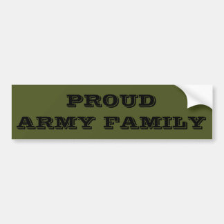 Bumper Sticker Proud Army Family