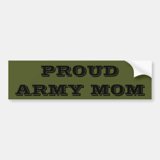 Bumper Sticker Proud Army Mom