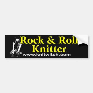Bumper Sticker - Rock and Roll Knitter