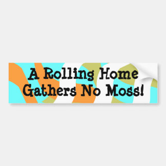 Bumper Sticker rolling Camper RV Travel Trailer