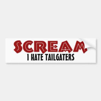 Bumper Sticker Scream I Hate Tailgaters