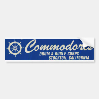 Bumper Sticker-Stockton Commodores Drum & Bugle Bumper Sticker
