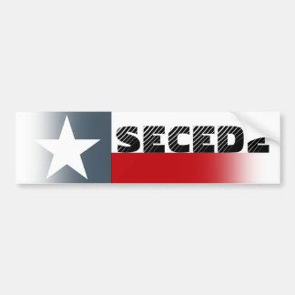 Bumper Sticker Texas Flag Fade Secede Campaign